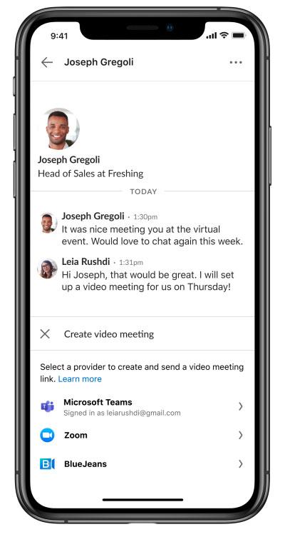 Messagerie vidéo LinkedIn